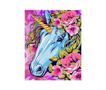 Schilderen op nummer:  Unicorn / 40x50cm / 24 kleuren