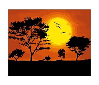 Schilderen op nummer:  Sunset / 40x50cm / 11 kleuren