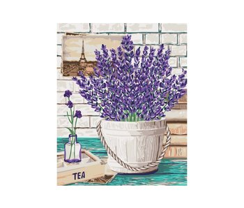 Schilderen op nummer:  Lavender aroma  / 40x50cm / 18 kleuren