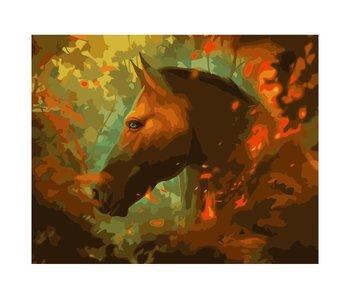 Peinture par numéros : Feu de joie / 40x50cm / 20 couleurs