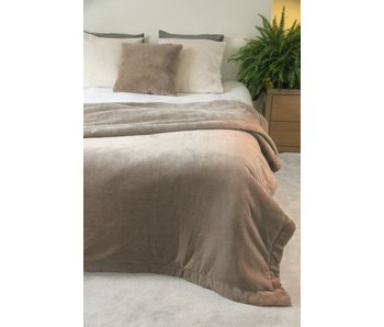 Couvre-Lit Matelassee Taupe - 240x260 - 550gr