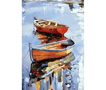 Peinture Dia WD122 - Bateaux 27x38 cm