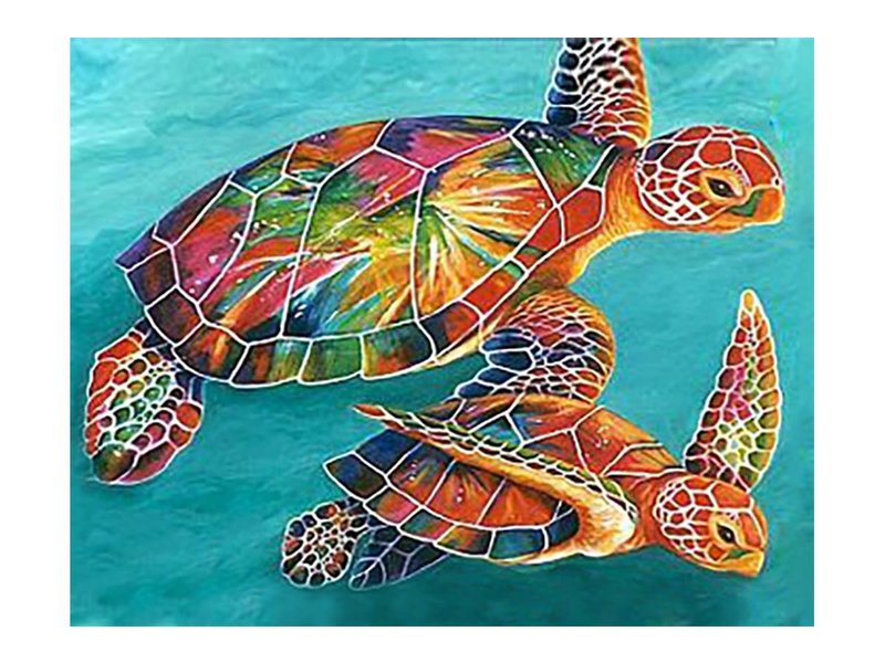 Dia paint WD064 -Sea Turtles 48x38 cm
