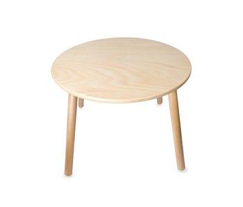 Houten kindertafel 78x78x43 - diameter blad 60 cm