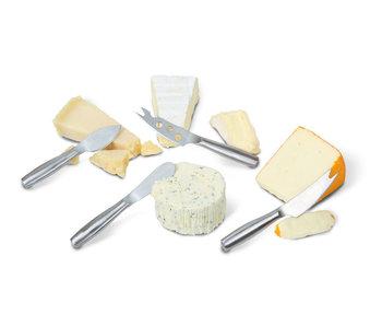 Copenhagen set 4xkaasmes mini rvs 17.6x14.6x2.1cm - alle soorten kaas
