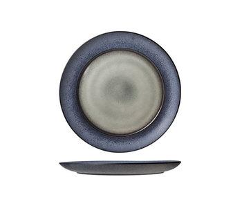 Assiette plate verte Provence d33cm