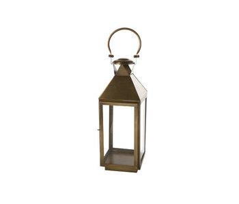 Lanterne laiton - laiton carré métal 19x19xh53,25 classique