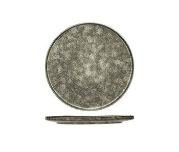 Assiette plate Istra gris-vert d30cm
