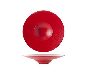 Dazzle red gourmet diep bord d28cm