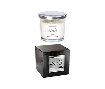 Bougie parfumée d'ambiance en verre n°3 - 40 heures10.7x10.7xh10cm daim pivoine