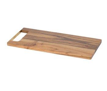 Snijplank natuur 35x15xh1,2cm rechthoekacacia - met gouden handvat