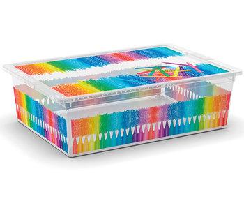 C-box boite de rangement couleurs arty l 27l 55x38.5xh16.5cm