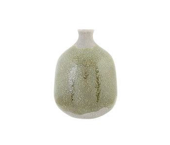 Vase forêt texture vert 13x13xh17.5cmpoterie ronde