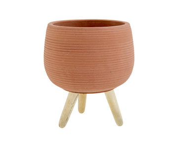 Cache pot sur pied terre cuite 15,5x15,5xh18,5cm céramique