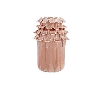 Vase pétales terre cuite 11.1x11.1xh17.5cm rond en céramique