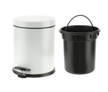 Wasty pedaalemmer wit 5l d20,5xh24cm