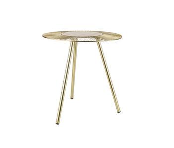 Table d'appoint trépied doré 42x42xh44cm rond métal