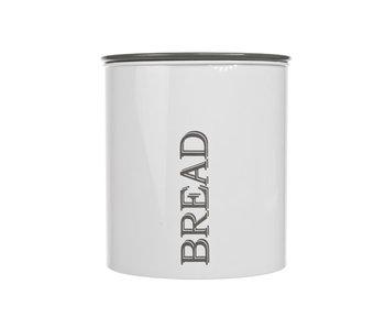 Broodtrommel d21,5xh22,5cm wit - grijs