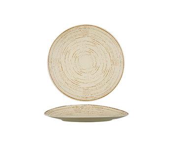 Assiette plate Tornado sable d27cm