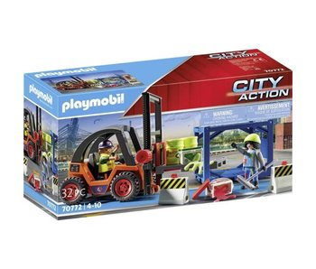 Playmobil 70772 Chariot élévateur avec charge
