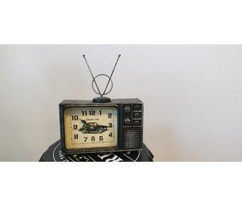 TV klok - zwart ijzer 29x22x7