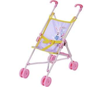BABY Born buggy  paars/geel - h53cm