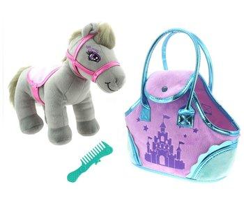 SPARKLE GIRLZ grijze pony in tasje