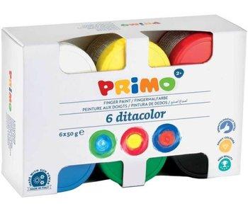 Primo Peinture au doigt 6 pots x50 ml