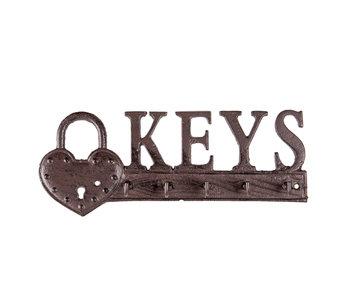 Clayre & Eef Porte-clés KEYS 26.3.x10 cm