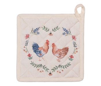 Clayre & Eef Manique poulets - 20x20cm