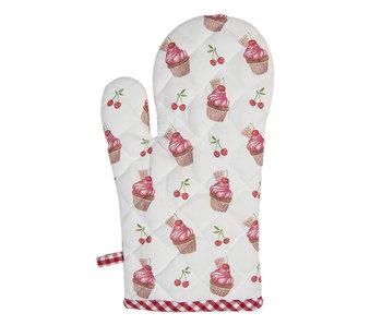 Clayre & Eef Cupcake gant de four - rouge