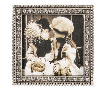 Clayre & Eef Cadre photo 9*2*9/8*8 cm - couleur argent - verre/zinc