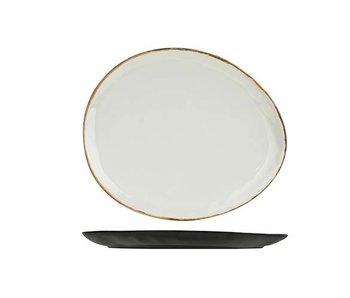 Plato unbreakable bord ovaal 32x27.7x2.5cm-melamine