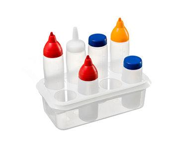 Organizer gn1-3 wit voor 8 sausdispenser32.5x17.6x10cm inclusief 1 sausdispenser