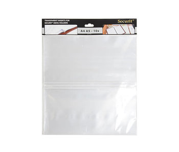 Menu plastiek mapje set10 a45a4 length - a5 width 33x30xh,4cm