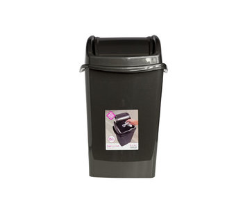 Papelera afvalbak swingdeksel 25l anthr34.8x29.9x53.5cm
