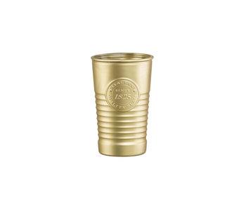Officina glas goud 32,5cl set4