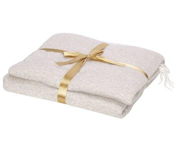 Plaid cosy creme 140x160xh,5cm textiel