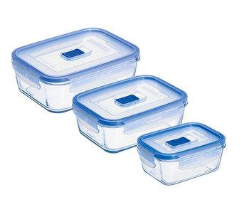 Pure box active doos 3delig rechthoek38cl, 82cl  en 122 cl