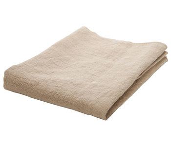 Tafelloper beige 130x50xh,1cm rechthoektextiel