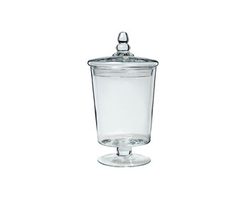 Pot met deksel storage transparant 16,5x16,5xh30cm rond glas