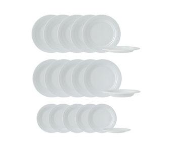 Orbito white serviesset 18-delig6x27cm - 6xdiep 23.3 - 6x20.3cm