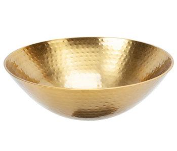 Schaal goud d22,5xh9cm rond metaal