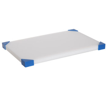 Snijplank nonslip wit-blauwe hoeken30,4x20,4x1,9cm