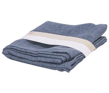 Tafelloper blauw 180x40xh,5cm polyester