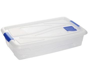Textielbox box met wielen transparant 42,5l 77x45,5x18,5cm