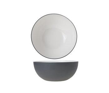 Alu bowl 20xh9cm wit email graphite gr