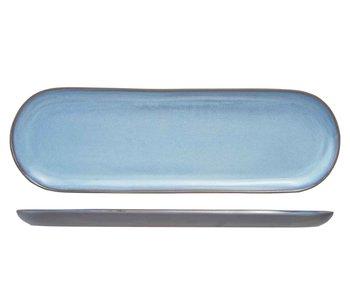 Baikal blue bord 39,5x12,5cm ovaal