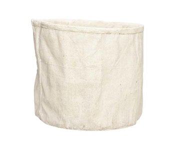 Bloempot creme 27,5x26xh23,5cm rond cement