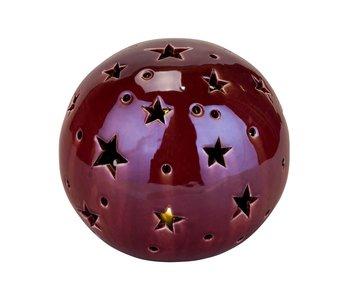 Bal lustre light  incl 2 button batbordeaux 16x16xh14,5cm rond ker 2xlr44